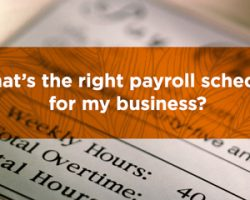 What's The Right Payroll Schedule For My Business?