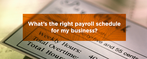 What is the right payroll schedule for my business
