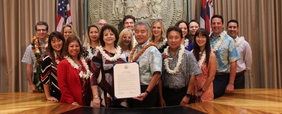 ALTRES Leaders and Friends at Proclamation of ALTRES Day in Hawaii