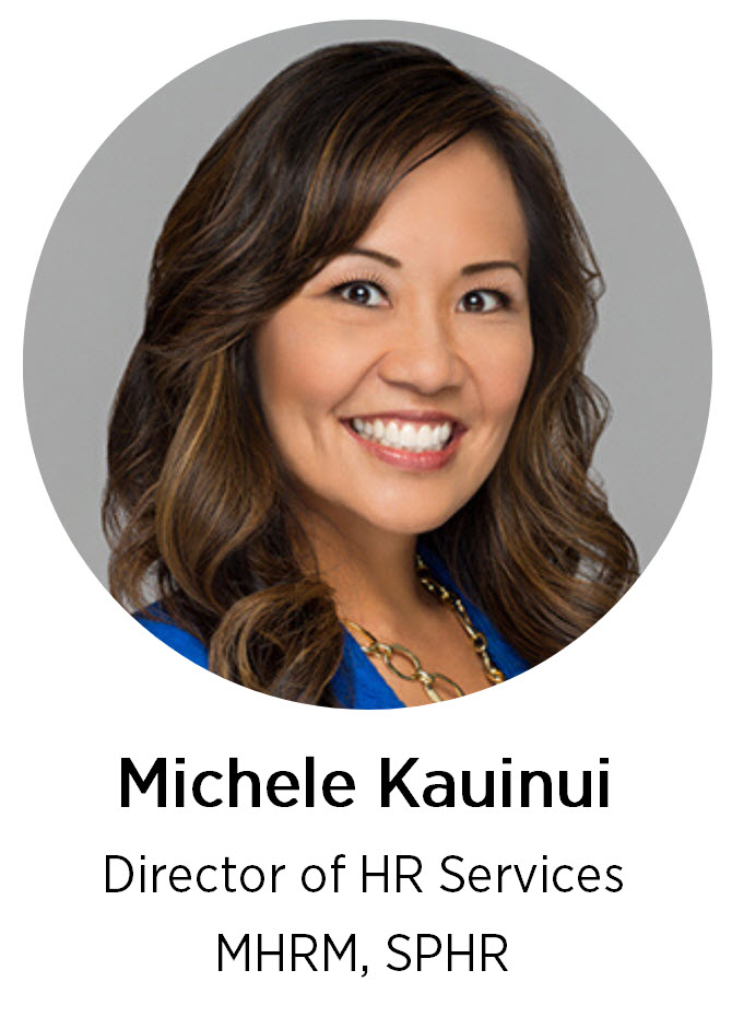 Headshot of Michele Kauinui, simplicityHR Director of HR Services