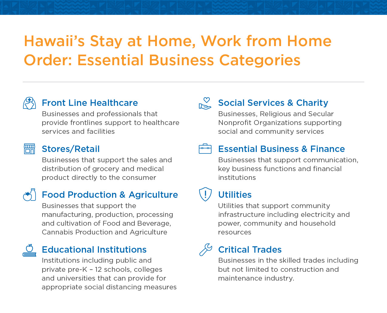 Hawaii essential businesses