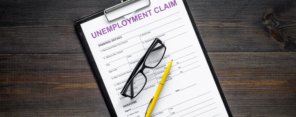 Unemployment claims form for filing unemployment insurance benefits