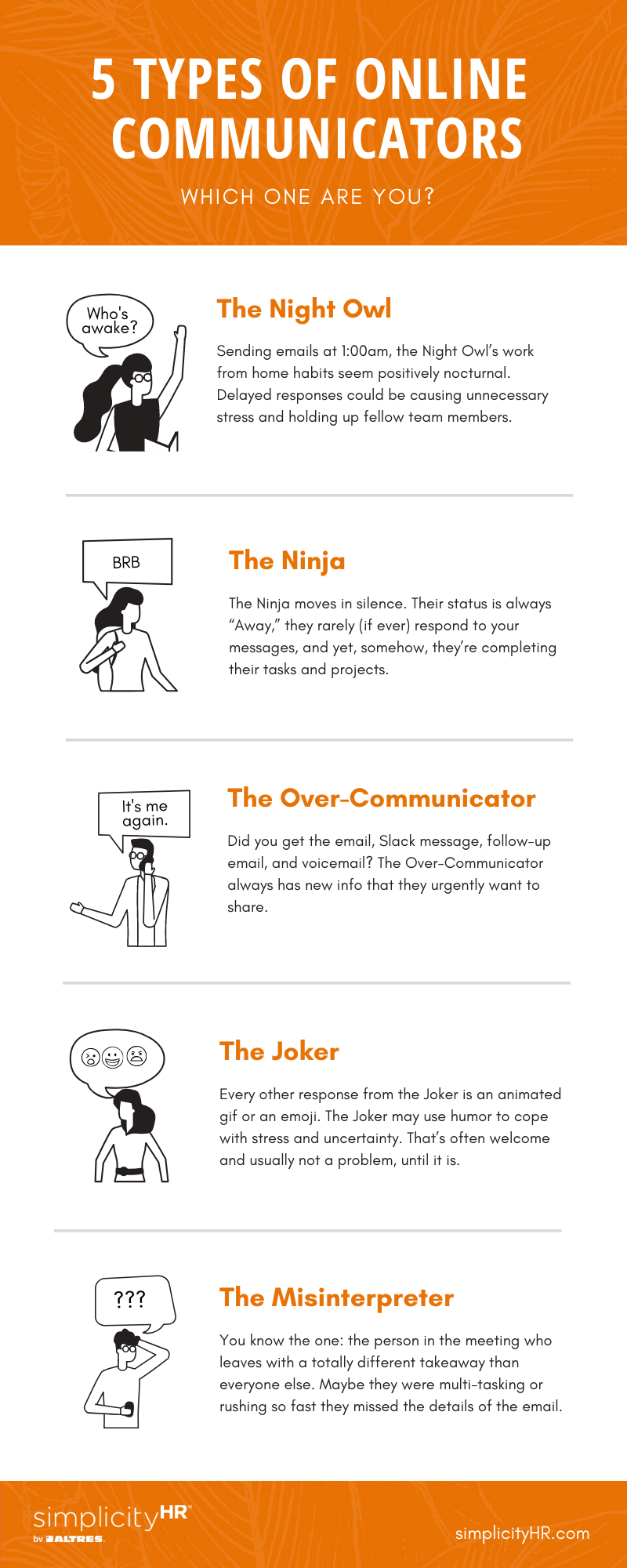 online communications styles infographic